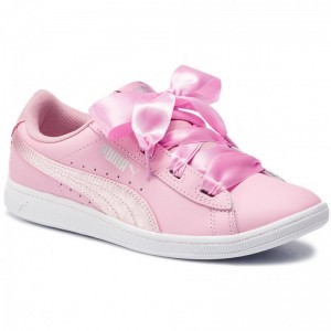 Puma Sneakers Vikky Ribbon L Satin Jr 369542 03 Pale Pink/Pale Pink