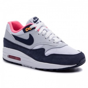 Nike Schuhe Air Max 1 319986 116 White/Midnight Navy