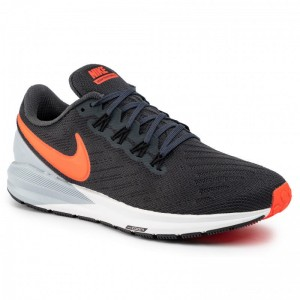 Nike Schuhe Air Zoom Structure 22 AA1636 010 Anthracite/Bright Crimson